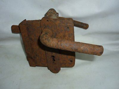 Antique Ottoman Handforged Iron Door Lock 19 Century Must See!!!