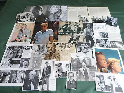 Richard Widmark - Film Star  - Clippings /cuttings Pack