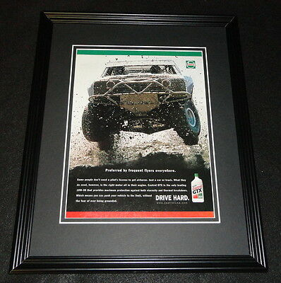 2000 Castrol GTX Motor Oil Framed 11x14 ORIGINAL Vintage Advertisement