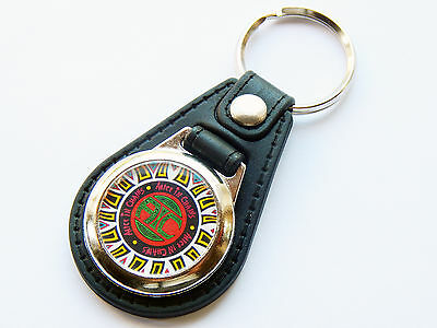 ALICE IN CHAINS Grunge Rock Band Premium Leather & Chrome Keyring