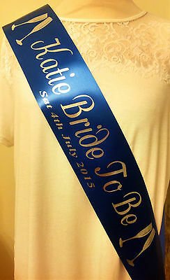 Bride to Be Hen Night Sashes - 1.6m long High Quality Satin Ribbon made to order