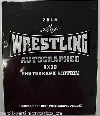 Factory Sealed 2015 Leaf Wrestling Autographed 8x10 Photograph Edition Box