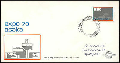 Netherlands 1970 Expo World's Fair FDC First Day Cover #C27424
