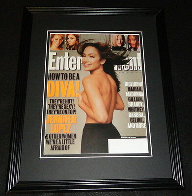 Jennifer Lopez Topless Framed 11x14 ORIGINAL 1998 Entertainment Weekly Cover