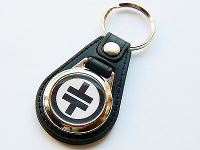 TAKE THAT Pop Boy Group Black Premium Leather & Chrome Keyring