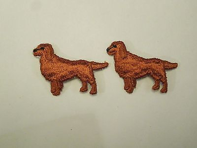 Lot of 2 Irish Setter Dog AKC Breed Puppy Embroidered Iron On Patches