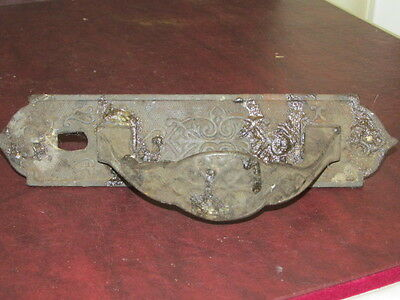 Antique Victorian Iron 2pc Thumb Latch Handle with Original Attachment Nuts FC
