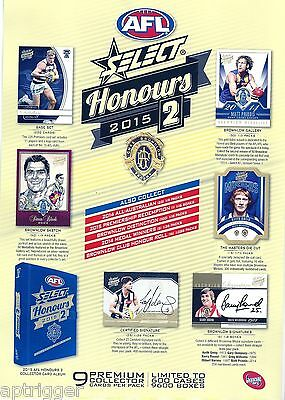 2015 Select Honours 2 FULL SET of Commons (220 Cards)