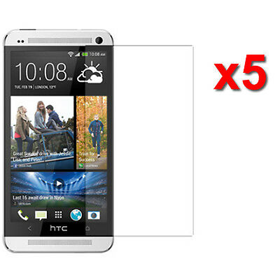 5X Anti-Glare Screen Protector HTC One M7 AT&T T-Mobile Sprint Phone Accessory