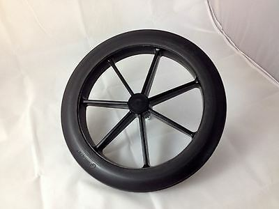 """Black 315mm Rear Wheel & Tyre for NHS Style Wheelchair 12 1/2"""""""