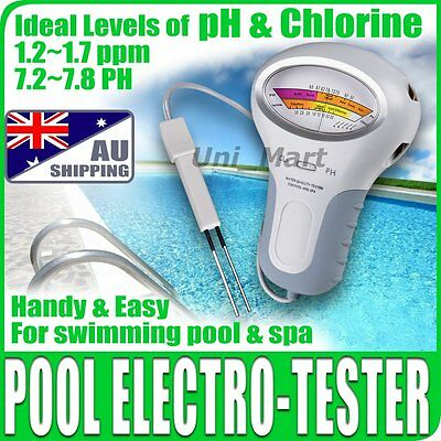 AU Swimming Pool Water pH & Cl2 Chlorine Level Tester spa water quality Lab