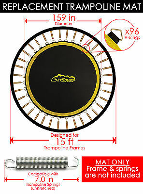 "SkyBound Premium 159"" Trampoline Mat w/ 96 V-Rings for Bravo/AirZone - 148739"