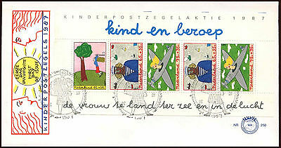 Netherlands 1987 Child Welfare M/S FDC First Day Cover #C27917