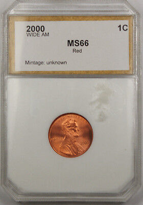 2000 Lincoln Cent Coin  Wide AM Gem Red
