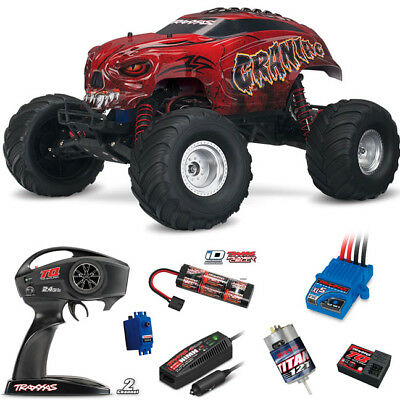 Traxxas 1/10 Craniac 2WD Monster Truck RTR Red / Radio / iD Battery / Charger