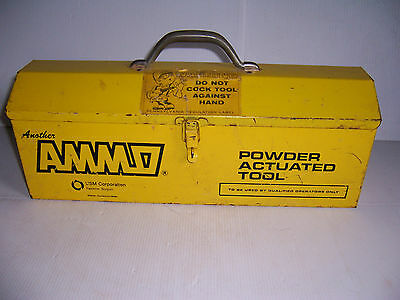 Usm Corporation Ammo Powder Actuated Fastening Tool In Metal Tool Box