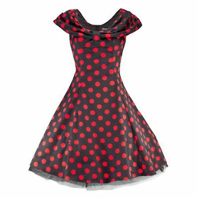 H/&R London Kleid SMALL DOTTED DRESS red-black