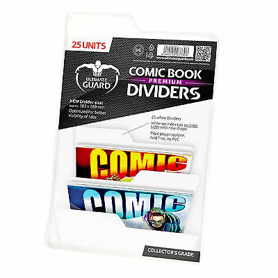 Ultimate Guard: Premium White Comic Book Dividers - 25 Pk - Collector's Grade