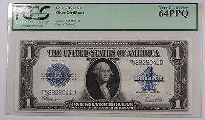 1923 One Dollar $1 Silver Certificate FR# 237 PCGS-64 Very Choice New PPQ