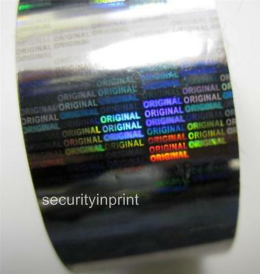 "Holographic Silver Security Hot Stamping Foil ""ORIGINAL"" Tape 30mm wide 1m Long"