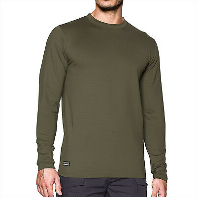 Mens Under Armour Coldgear Infrared Tactical Fitted Crew Compression Top Green
