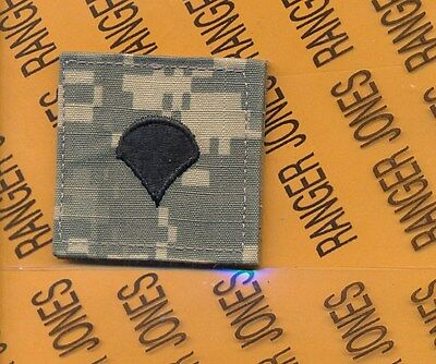 US ARMY Enlisted Specialist 4 SPEC-4 E-4 ACU chest rank patch
