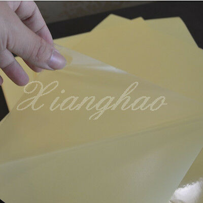 45 Sheets A4 Clear Transparent Film Adhesive Sticker Paper For Laser Printer