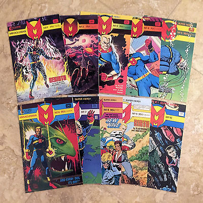 MIRACLEMAN #1 - 10, complete VF+ set of the Eclipse Comics by Alan Moore