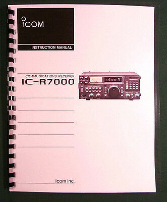 Icom IC-R7000 Instruction Manual - Premium Card Stock & Protective Covers!