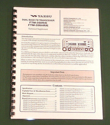 Yaesu FTM-350R Service Manual -  Premium Card Stock Covers & 28 LB Paper!