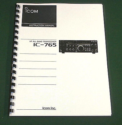 Icom IC-765 Instruction manual - Premium Card Stock & Protective Covers!