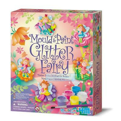 4M Mould And Paint Glitter Fairy Kit For Kids Great Educational Game Fun Activit