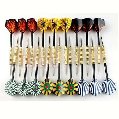 18pc (6 sets) Steel Tip Dart Darts With Nice Flight Flights