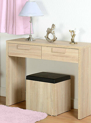 CAMBOURNE Sonoma Oak Wooden DRESSING Table and Stool Set