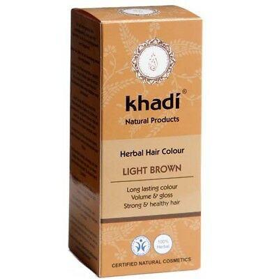 Khadi Herbal Hair Colour in Light Brown 100g *FREE P&P**