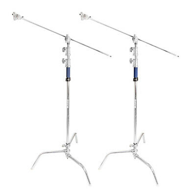 "Super Heavy Duty 300cm Double Riser C-Stand with 50"" Boom Arm Set TwinKit Studio"
