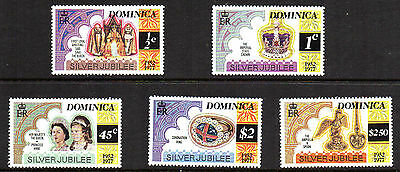 (E562) Dominica Stamps - 1977 Silver Jubilee Sets - Un Mounted Mint