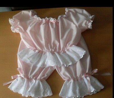 Pink Short legged bloomers with matching top