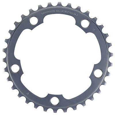 Shimano Ultegra FC-6750 G 34T Chainring 2x10 speed, 50-34T, 110mm BCD, Grey