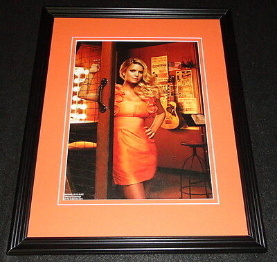 Jessica Simpson 2008 Grand Ole Opry Framed 11x14 Photo Display