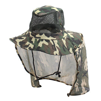 Adjustable Strap Press Stud Camouflage Print Bucket Sun Hat Cap for Man