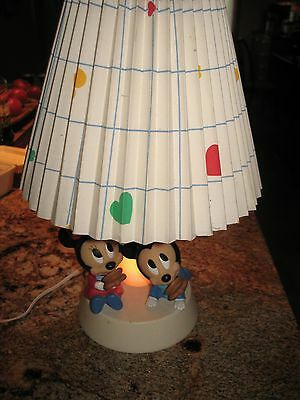 Vintage Lamp/Night Light with Mickey and Minnie Mouse