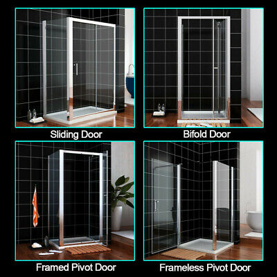 Walk In Bifold/Pivot/Hinge/Sliding Shower Enclosures Glass Door Screen Cubicles
