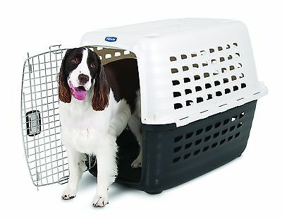 PETMATE Fashion Compass Kennel Met White/Black Dog CARRIER, 19 Inch 684623 New