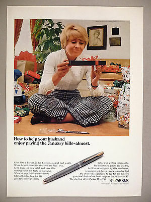 Parker Pen PRINT AD - 1969 ~ Sterling Silver Parker 75 Fountain Pen