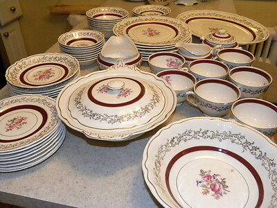 Antique Vintage Sovereign Potters Eathenware Set Made In Canada 46 Peaces Rare