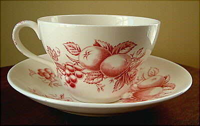 Johnson Brothers HARVEST TIME Mulberry Oversized Cup & Saucer USED