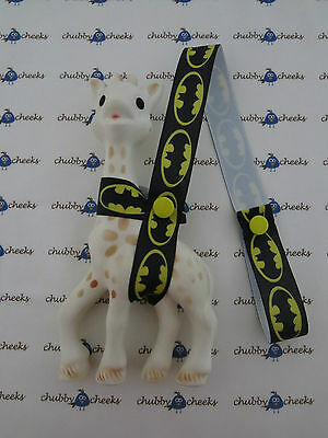 Sophie The Giraffe Harness Toy Saver Strap Leash, Batman