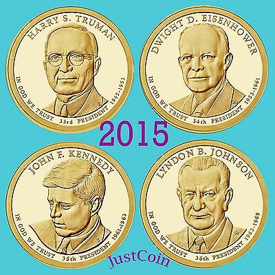 2015-P Presidential Dollars Set Truman Eisenhower Kennedy Johnson Uncirculated