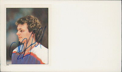 Dale Hawerchuk - Autographed Stickered Index Card Winnipeg Jets